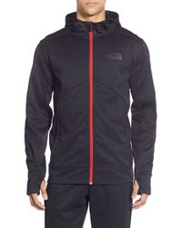 The North Face | Red 'ampere' Zip Front Fleece Hoodie for Men | Lyst