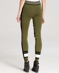 Ronny Kobo Green Torn By Leggings - Prima Patchwork