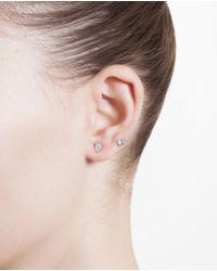 Yvonne Léon - Metallic 18K White Gold And Diamond Epingle Earring - Lyst