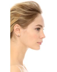 Marc By Marc Jacobs Metallic Tiny Daisy Stud Earrings - Argento