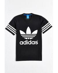 Adidas Originals Black Originals Galaxy Trefoil Tee for men