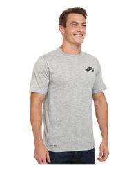 Nike | Gray Sb Skyline Dri-fit Short Sleeve Crew for Men | Lyst