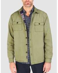 Faherty Brand Green Blanket-lined Cpo Jacket for men