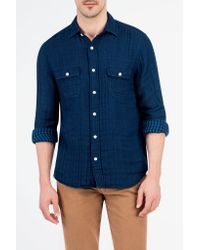 Faherty Brand - Gray Belmar Workshirt for Men - Lyst