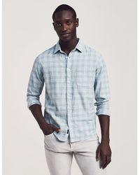 Faherty Brand Blue Cloud Cotton Everyday Shirt for men