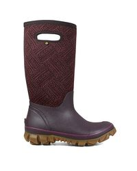 Bogs Purple Whiteout Waterproof Pull On Tall Winter Boots