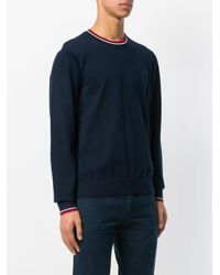 MICHAEL Michael Kors Blue Contrast-trim Crew Neck Sweater for men