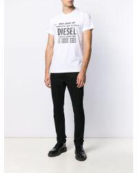 T-shirt à logo imprimé DIESEL pour homme en coloris White