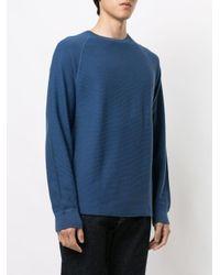 Sweat thermique à manches raglan James Perse pour homme en coloris Blue