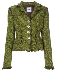 Giacca bouclé di Moschino Pre-Owned in Green
