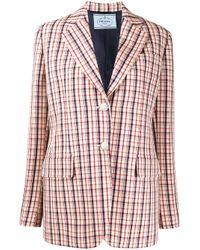 Prada チェック シングルジャケット Multicolor