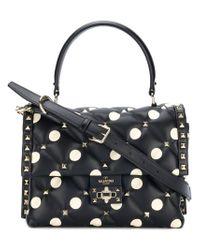Valentino - Black Garavani Candystud Top Handle Bag - Lyst