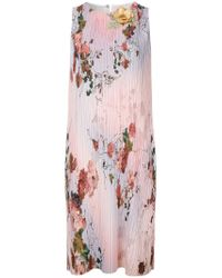 Moschino Pink Floral Print Dress