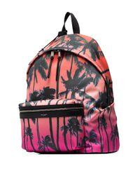 Рюкзак City С Принтом Saint Laurent для него, цвет: Pink