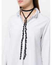 Ann Demeulemeester - Black Beaded Wrap-around Necklace - Lyst