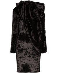 Robe courte drapée Y. Project en coloris Black