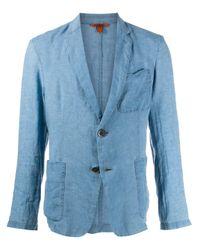 Blazer con botones y efecto arrugado Barena de hombre de color Blue
