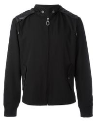 Lanvin | Black Technical Gabardine Windbreaker for Men | Lyst