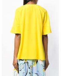 Top con pliegues Emilio Pucci de color Yellow