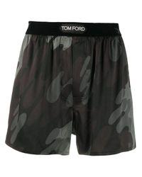 メンズ Tom Ford カモフラージュ ボクサーパンツ Gray