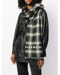 Givenchy チェック スカーフ Multicolor