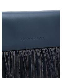 Fabiana Filippi Blue Fringed Foldover Clutch