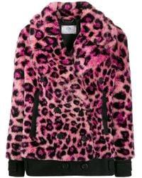 Giacca leopardata di Alberta Ferretti in Multicolor