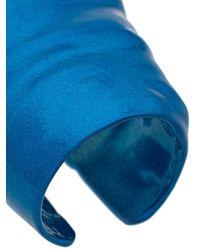 Bague oversize à design sculpté Maison Margiela en coloris Blue