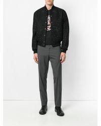 Versace Black Stellate Stud Bomber Jacket for men