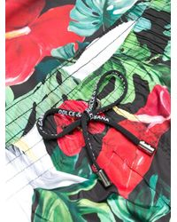 メンズ Dolce & Gabbana プリント トランクス水着 Green