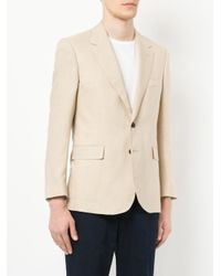 Gieves & Hawkes Natural Classic Fitted Blazer for men