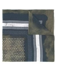 Yoshiokubo - Blue Shibori Scarf for Men - Lyst