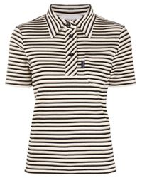 Polo a righe di See By Chloé in White