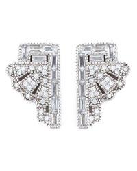 V Jewellery Metallic 'deco Fan' Earrings
