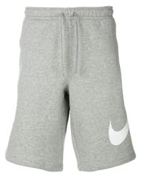 Nike Gray Logo Print Shorts for men