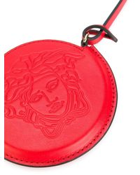 Versace Red Embossed Medusa luggage Pouch