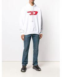 Sweat à capuche à logo DIESEL pour homme en coloris White