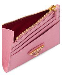 Prada ファスナー財布 Pink