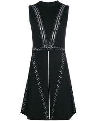 Versace Jeans Black Stitch-detail Sleeveless Dress