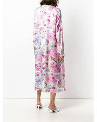 Saks Potts Pink Pussy Bow Floral Dress