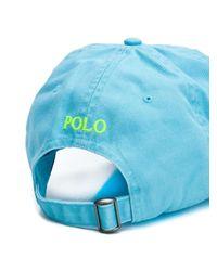 Кепка С Вышитым Логотипом Polo Ralph Lauren для него, цвет: Blue