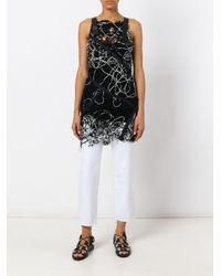 Alessandra Marchi Black Particular Craft Top