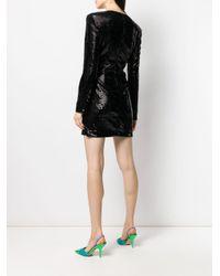 Robe courte brodée de sequins P.A.R.O.S.H. en coloris Black