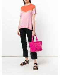 See By Chloé - Pink Logo Embossed Tote Bag - Lyst