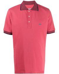 メンズ Vivienne Westwood ロゴ ポロシャツ Pink
