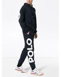 メンズ Polo Ralph Lauren オーバーサイズナイロンスウェットパンツ Blue