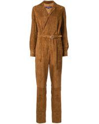 Ralph Lauren Collection Brown Wrap Front Jumpsuit