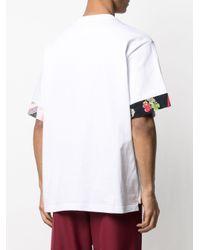 メンズ Sacai パネル Tシャツ White