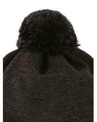 Bonnet à détail de pompon Fendi pour homme en coloris Black