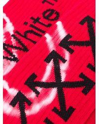 Calzini Arrows a coste di Off-White c/o Virgil Abloh in Red da Uomo